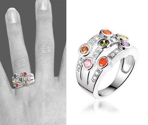 Fancy Colors zilveren ring - montebello sieraden-6241