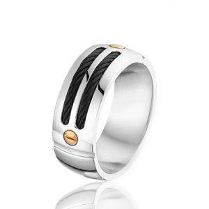 Montebello Ring Stig - Heren - Staal - Draad-0