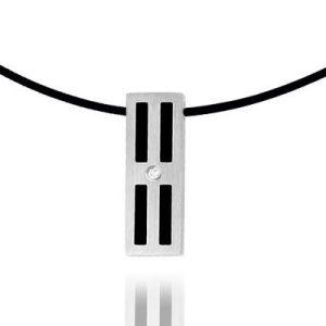 Wesley Hanger van edelstaal - Montebello Jewels-0