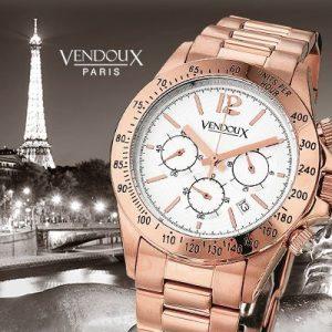 Eiffel, rosé horloge uit edelstaal - Vendoux Exclusive-0