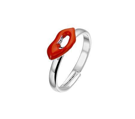 Lips, metalen fantasie ring - Amanto Kids sieraden-0