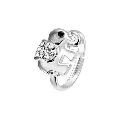 Elephant ring, metalen fantasie ring - Amanto Kids sieraden-0