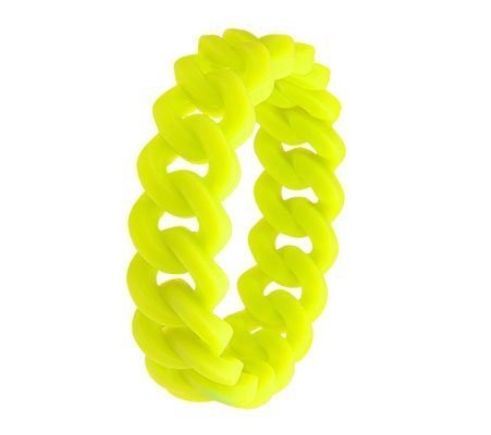 Fluo Y, fantasie armband - Amanto juwelen-0