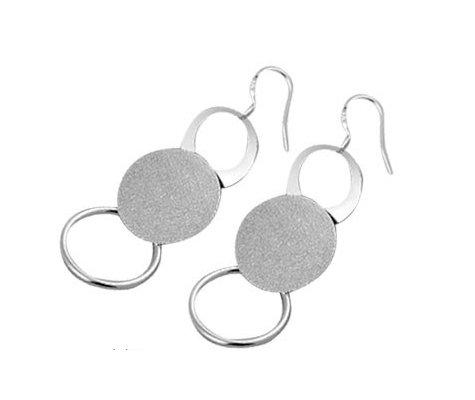 Ammoniet, verzilverde oorbellen - Bellitta Juwelen-0