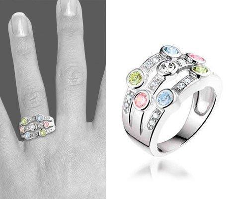 Pastel, zilveren ring - Montebello sieraden-0