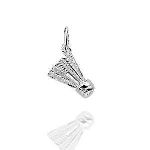badmintonpluim – zilveren hanger-0