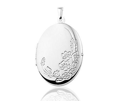 medaillon - zilveren hanger-0