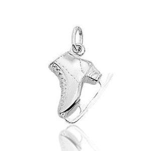 kunstschaats - zilveren hanger-0