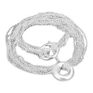 Bariet, verzilverde halsketting - Bellitta Juwelen-0