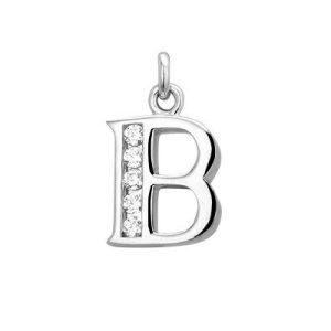 Montebello Hanger Letter B - Dames - Zilver gerhodineerd - Zirkonia -0