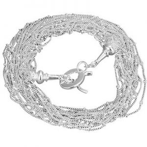 Rutiel, verzilverde halsketting - Bellitta Juwelen-0