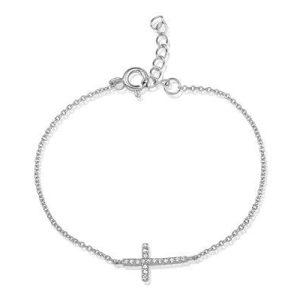 Montebello Armband Varize - Dames - Zilver gerh - Kruis - 18cm-0