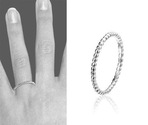Montebello Ring Vaxy - Dames - Zilver Gerhodineerd-0