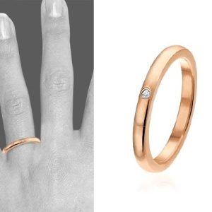 Villing, edelstalen rosé ring - montebello sieraden-0
