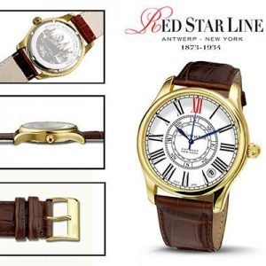 RSL01, edelstalen horloge - Red Star Line Watches-0