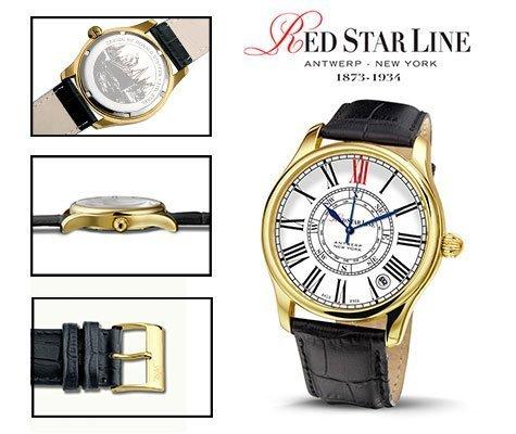 RSL02, edelstalen horloge - Red Star Line Watches-0