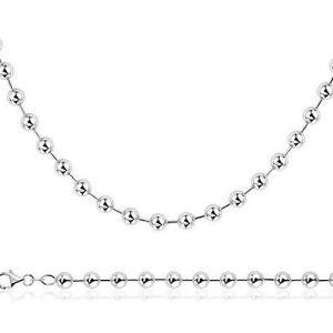 Montebello Ketting Pully - Dames - 925 Zilver Gerh. - Bolletjes - 6mm - 42+3cm-25146