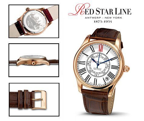 RSL09, edelstalen horloge - Red Star Line Watches-0