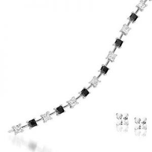 Montebello Armband Tulla - Dames - 925 Zilver Gerh. - Zirkonia - 5mm - 19cm-4342