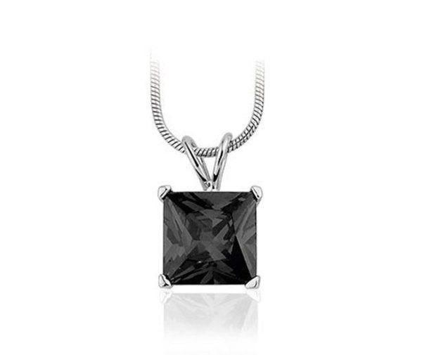 Montebello Ketting Vevey - Dames - Zilver Gerhodineerd - Zirkonia - 10x10mm - 42cm-0