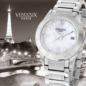 Cognac, horloge uit edelstaal - Vendoux-0