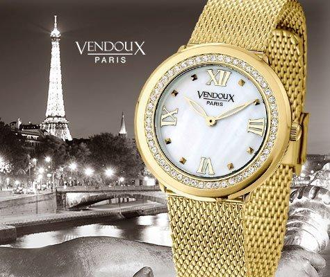 Chatou, horloge uit edelstaal - Vendoux-0