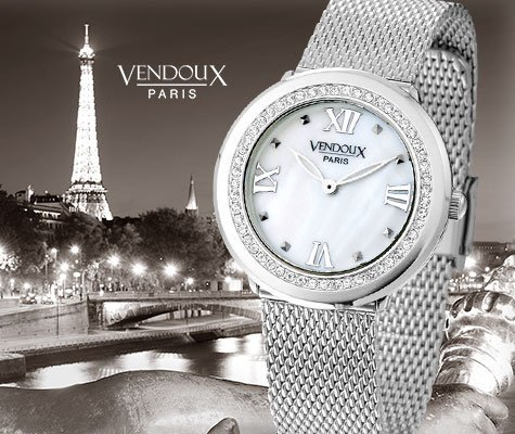 Nice, horloge uit edelstaal - Vendoux-0
