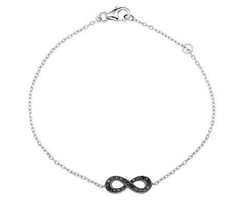 Montebello Armband Ellesmere - Dames - Zilver - Gerhodineerd - Infinity - 6 mm - 18 cm-0