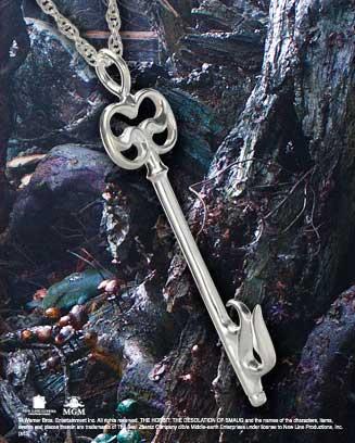 Mirwood cell key NN1229 , zilveren hanger - The Hobbit -0