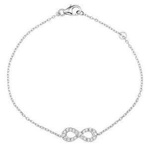 Montebello Armband Victoria - Dames - Zilver - Gerhodineerd - Infinity - 6 mm - 18 cm-0