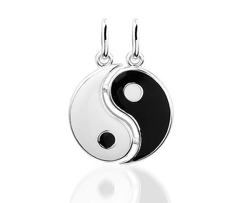 Yin Yang - Zilveren hanger-0
