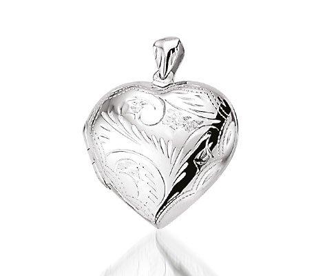 zilveren hartmedaillon - Zilveren hanger-0