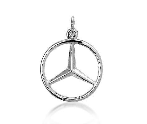 zilveren Mercedes-teken - Zilveren hanger-0