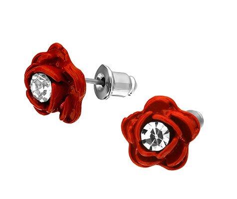 Bloem, metalen oorbellen - amanto kinderjuwelen-0