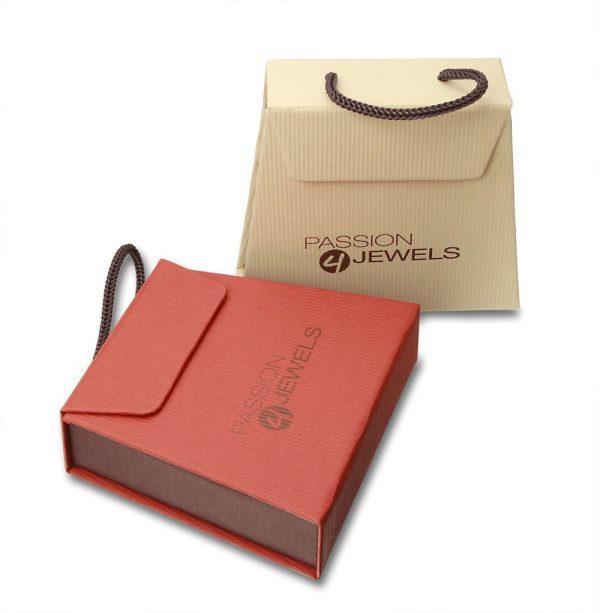 Montebello Oorbellen Ecolette - 925 Zilver Roséverguld - Swarovski® - 14x10mm - 20mm-8614