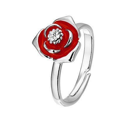 Bloemring, metalen fantasie ring - amanto kinderjuwelen-0