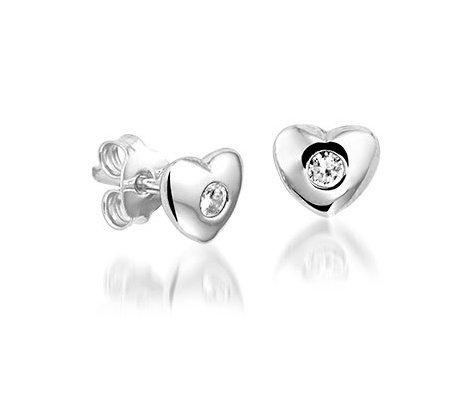 Rubinstar, zilveren oorbellen - Montebello Kids Juwelen-0
