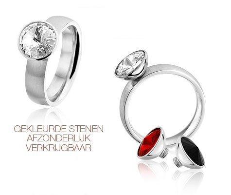 Arum, edelstalen ring - montebello sieraden-0