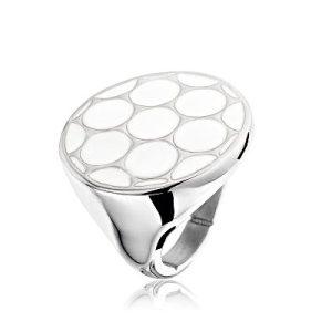 Montebello Ring Athrotaxis - Dames - 316L Staal - Keramiek - ∅25 mm-0