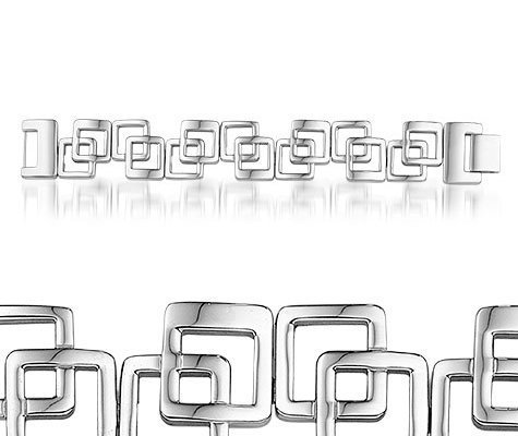 Azorella, edelstalen armband - Montebello juwelen-0