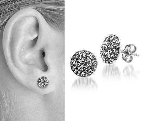 Balanites, edelstalen oorbellen - Montebello juwelen-0