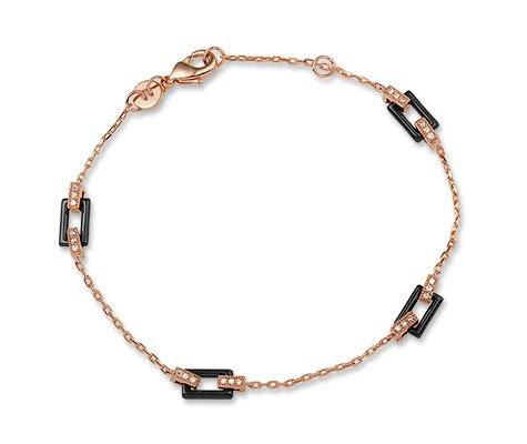 Montebello Armband Celosia - Dames - Zilver Verguld - Zirkonia - Keramiek - 18cm-0