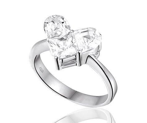 Gloria, zilveren ring met zirkonia - Sales -0