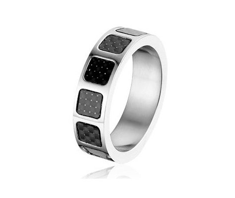 Montebello Ring Marco - Heren - 316L Staal - Carbon - 7 mm-0