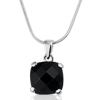 Montebello ketting Black Dust - 925 Zilver Gerhodineerd - ∅12mm - 42cm-0