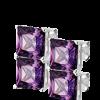 Purple Autumn, zilveren oorbellen - Sales-0