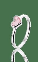 Gekleurde Heart ring, zilveren ring - amanto kinderjuwelen-0