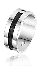 Ronny, edelstalen ring - Sales -0