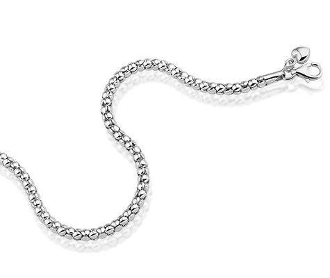 Montebello Ketting Sion - Dames - 925 Zilver Gerh. - Bolletjes - 5mm - 42+5cm-0