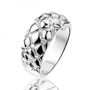 Gaby, zilveren ring met zirkonia - Sales -0